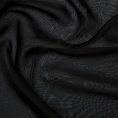 Chiffon Dress Fabric - Cationic   Black