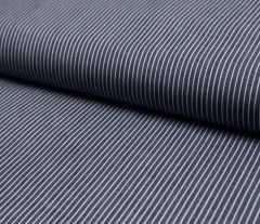 Jacquard Weave Denim Fabric | Mid Stripe Dark Jeans