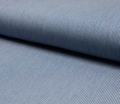 Jacquard Weave Denim Fabric | Mini Stripe Light Jeans
