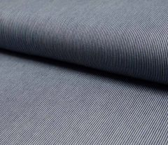 Jacquard Weave Denim Fabric | Mini Stripe Dark Jeans