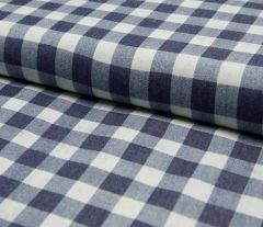 Denim Fabric | Broad Check Dark Jeans