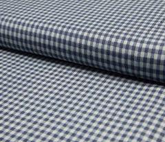 Denim Fabric | Small Check Dark Jeans