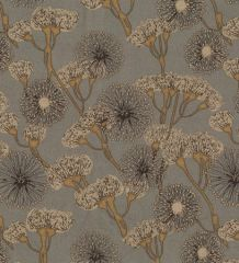 Scuba Suede Fabric Print | Seed Head Silver