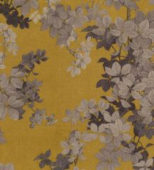 Scuba Suede Fabric Print | Summer Bloom Ochre