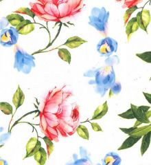 Linen Look Polyester Prints | Floral Dance