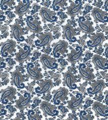 Paisley Printed Lining Fabric | White
