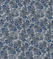 Paisley Printed Lining Fabric | Silver