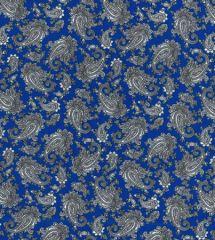 Paisley Printed Lining Fabric | Royal