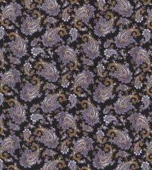 Paisley Printed Lining Fabric   Black