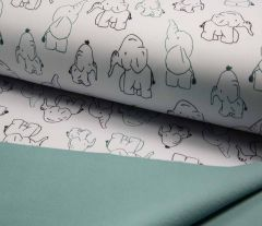 Soft Shell Fleece Fabric | Subtle Elephants