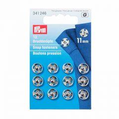 11mm Silver Metal, Snap Fasteners | Prym