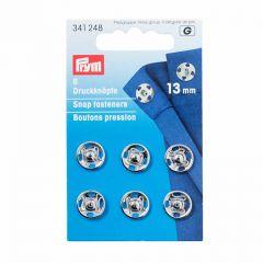 13mm Silver Metal, Snap Fasteners | Prym