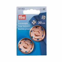 30mm Rose Gold Snap Fasteners, Metal | Prym