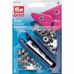 10mm Silver, Jersey Ring Press Fasteners & Tool   Prym