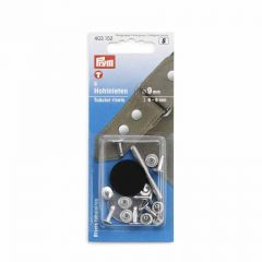 Tubular Rivets & Tool | For Material Thickness 6-9mm | 9mm Silver