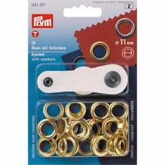 Eyelets With Washer & Tool | 11mm Gold