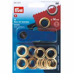 Eyelets With Washer & Tool | 14mm Gold
