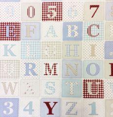 ABC Blue | Fabric