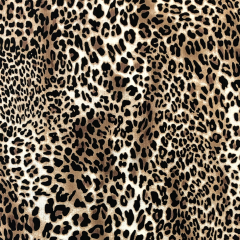 Bubble Chiffon Fabric | Animal Print Gold