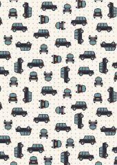 City Nights Fabric   Black Cab SIlver
