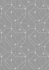 City Nights Fabric   Underground Silver