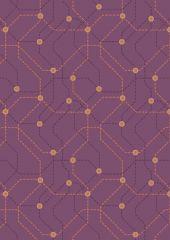 City Nights Fabric   Underground Copper / Maroon