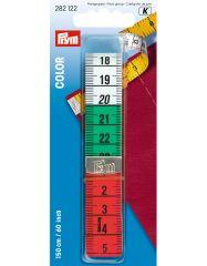 Colour Tape Measure   Metal Tipped 60″   Prym