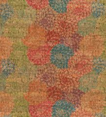 Cork Fabric Print | Multi Dahlia