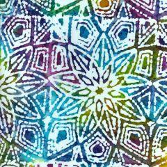 Batik Fabric Design Flower Head