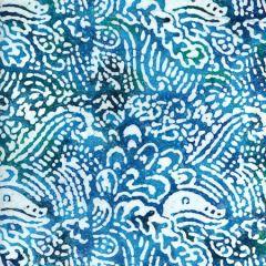 Batik Fabric Design Fossil Aqua