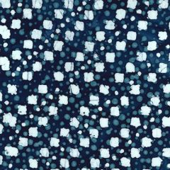 Batik Fabric Design Indigo Blotter