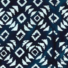 Batik Fabric Design Linoblock Indigio