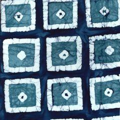 Batik Fabric Design Indigo Cubed