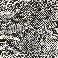 Crepe Georgette Fabric   Snake Skin Silver