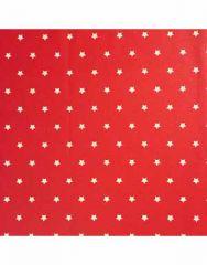 Cretonne Cotton Fabric | Stars Red Background