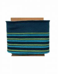 Cuffs Border Multi Stripe | Aqua Greens