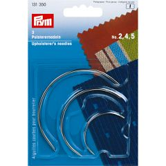 Curved Upholsterer's Needles, 2-4-5, silver col | Prym