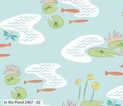 Debbie Shore Lily Pad Fabric   In The Pond