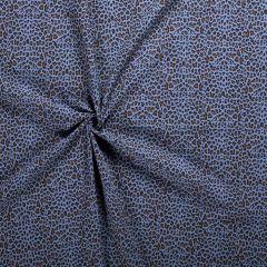 Double Gauze Fabric   Cheetah Indigo