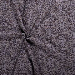 Double Gauze Fabric   Cheetah Blue Grey