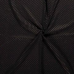 Double Gauze Baby Fabric | Gold Star Black