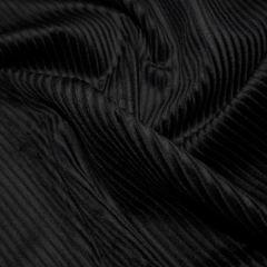 Jumbo Cotton Corduroy Fabric   Black