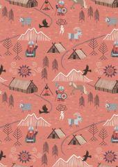 Viking Adventure Fabric | Viking Village Peach
