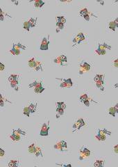 Viking Adventure Fabric | Vikings Grey