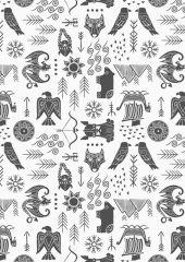 Viking Adventure Fabric | Adventure White