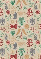 Viking Adventure Fabric | Adventure Oat