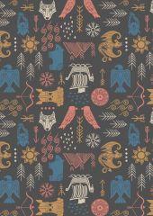 Viking Adventure Fabric | Adventure Earthy Grey