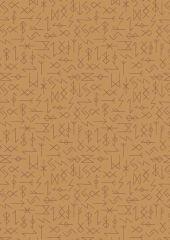 Viking Adventure Fabric | Runes Ochre