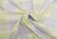 Egyptian Cotton Fabric | Woven Check Blue