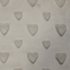 Embossed Fleece Fabric | Heart Ivory